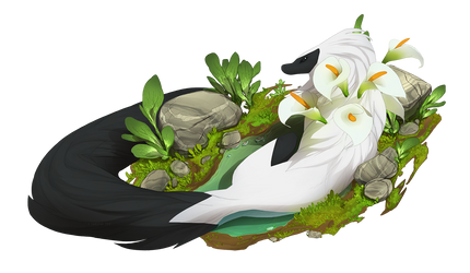 ESK - YCH - Puddle Rest - Summer by Sarspax
