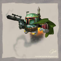 Stylized Boba Fett - Jeff Murchie by MURCHIEMONSTER