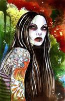 Zombie Girl Colored by winona-adamon
