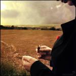 Elle soupire, le temps passe,.. by winona-adamon