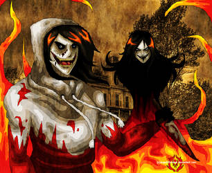 Go.... to.... SLEEP in the flames of HELLiquinn by AngelKiller666