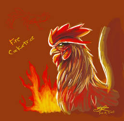 2017 Rooster Fire Cockatrice practice by AoiKita