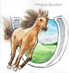 Buckskin Horseshoe by AoiKita