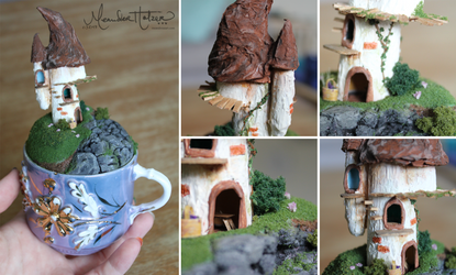 Fairy Tower Teacup by MeandrousArt
