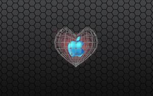 Apple Heart wallpaper by WalentyWalewski