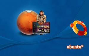 Ubuntu and Mark Shuttleworth, wallpaper by WalentyWalewski