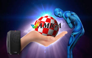 AmigaOne X1000, wallpaper for AmigaOS by WalentyWalewski