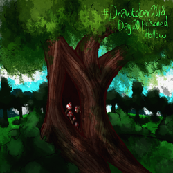 #drawtober day 20 - Poisoned Hollow by Ch4rm3d