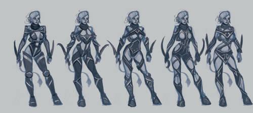Filaani (OC) armor design rough sketches. by BlackHawk45LC