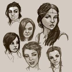 female face study by BlackHawk45LC