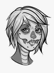 Calavera girl vector commission  by BlackHawk45LC