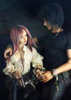 Azrael et Lilith by Konatoh
