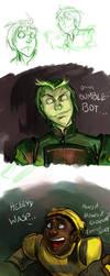Bumblebot and Wasp doodles by xanykaos