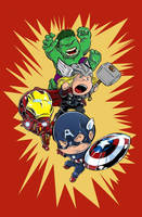 Avengers Shirt -- Li'l 'Vengers by xanykaos