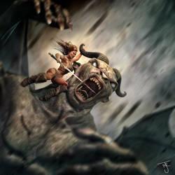 Falling Demon by tab109
