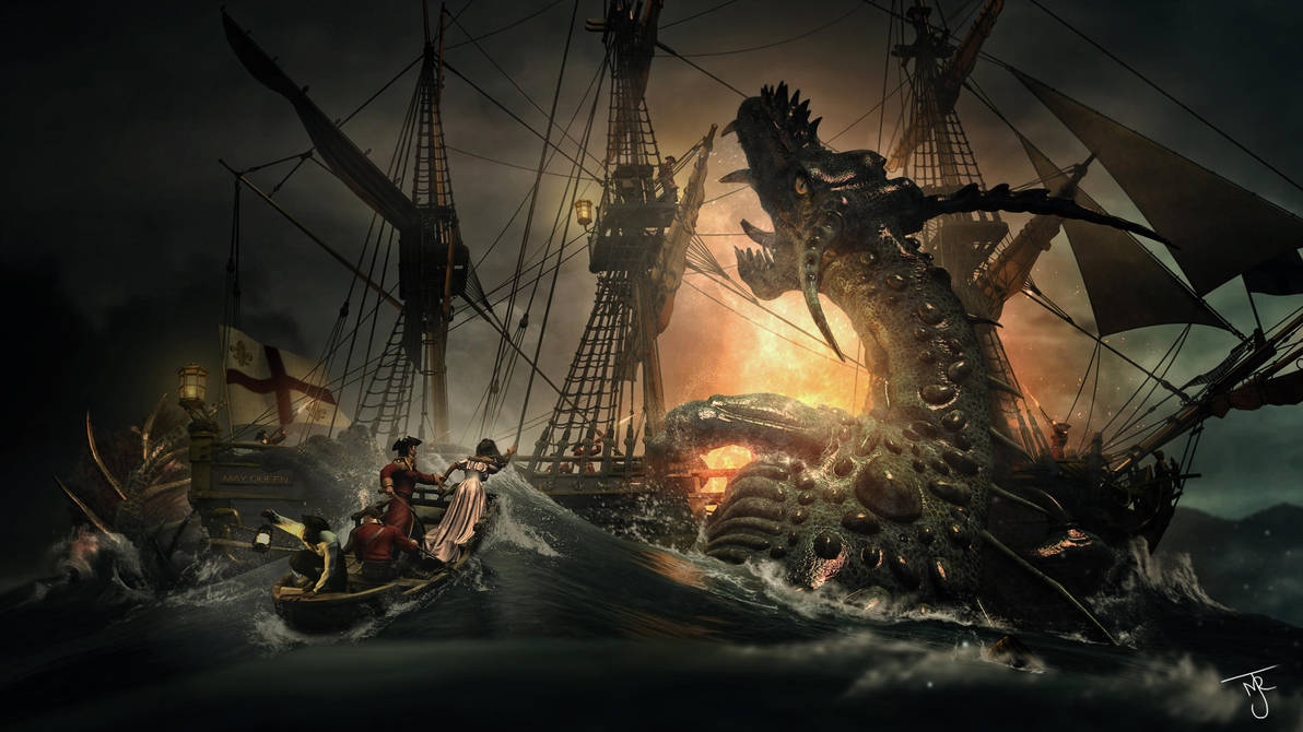 The Sinking of The May Queen by tab109