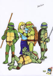TMNT and Anne - coloured by Sheelena