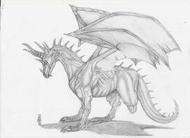 Three Leg Dragon by MidoriBara