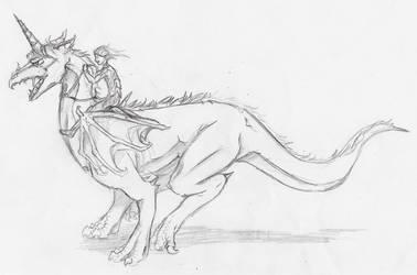''Dragon rider'' by MidoriBara
