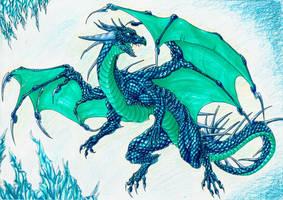 Ice Dragon by MidoriBara