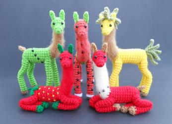 Fruit Llamas by Pickleweasel360