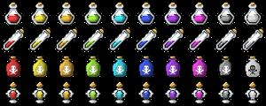 Colorful Potions [RPG Maker MV - Icon Set] by XxSylph