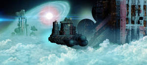 Neutron Nebula Mining Station by IntergalacticMonkey
