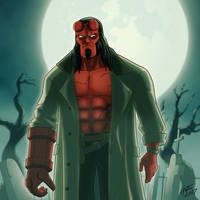 David Harbour's Hellboy! (accepting commissions!) by jonathanserrot