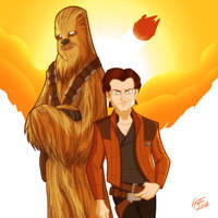 Han and Chewy by jonathanserrot