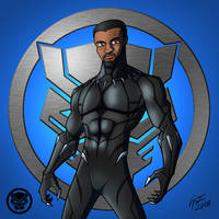 Black Panther: T'Challa by jonathanserrot
