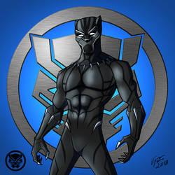 Black Panther: T'Challa (Masked) by jonathanserrot