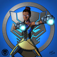 Black Panther: Shuri by jonathanserrot