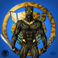 Black Panther: Killmonger (Golden Jaguar) by jonathanserrot