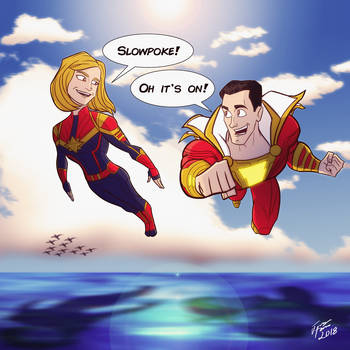 The Two Captain Marvels by jonathanserrot