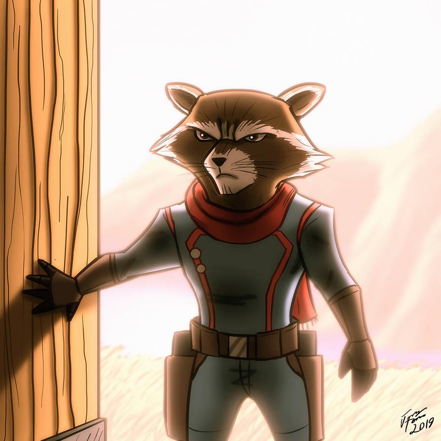 Rocket Raccoon by jonathanserrot