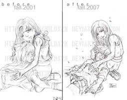 Then And Now-- Original Art :D by DarkChildx2k