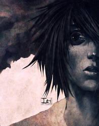 DEATHNOTE-- L SEES THROUGH YOU by DarkChildx2k