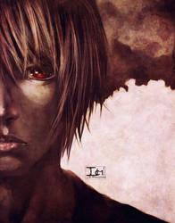 DEATHNOTE-- KIRA SEES THROUGH YOU by DarkChildx2k