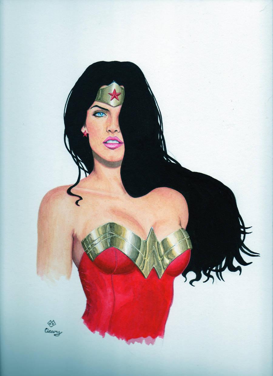 WonderWoman bust by Promethean-Arts