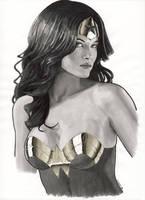 WonderWoman portrait by Promethean-Arts