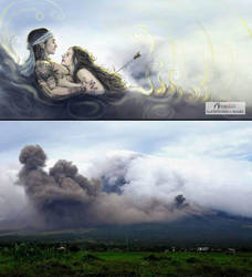 The Legend of the Mayon Volcano by artistmyx
