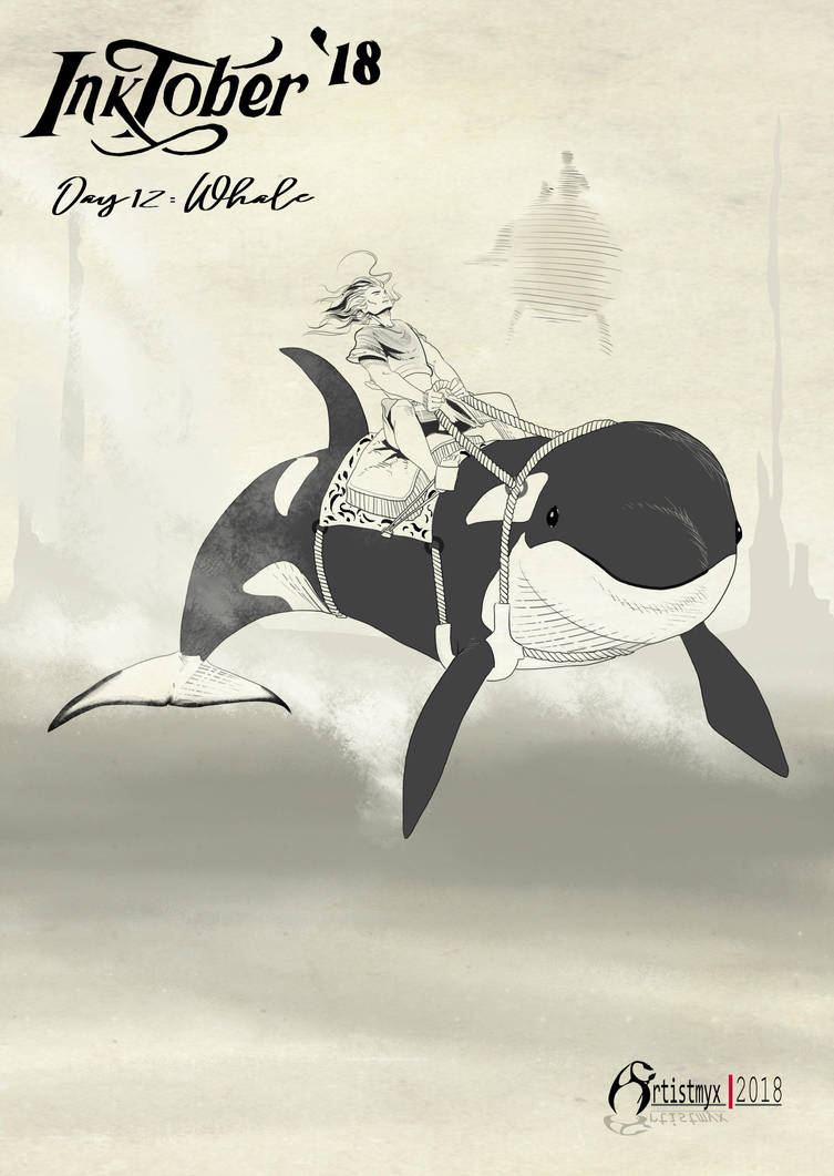 Inktober 2018: Day 12 Whale by artistmyx