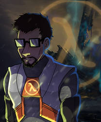 Gordon Freeman by MrDataTheAwesome