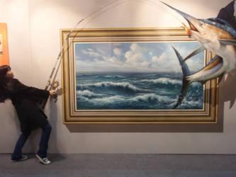 Trick art - Me fishing? by kosemdochi