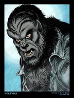 Wolfman Portrait by BryanBaugh