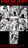 Wulf and Batsy Artist Sketch Cards page 3 by BryanBaugh