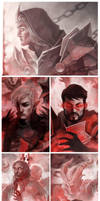 Dragon Age 2: WIPs by coupleofkooks