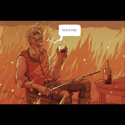 DnD: This Is Fine by coupleofkooks