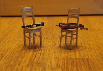 Miniature Instruments and Chairs by Fandragon