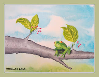 Frog on a Tree by MrMinos